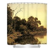 Johnstone Henry James A Backwater Of The River Murray South Australia Henry James Johnstone Shower Curtain
