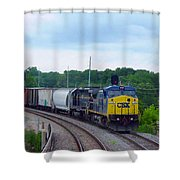 19 Mile Post Shower Curtain