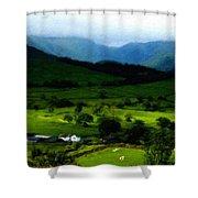 P W Landscape Shower Curtain