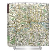 1900 Bacon Pocket Map Of London England  Shower Curtain