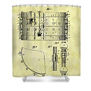 1900 Band Drum Patent Shower Curtain