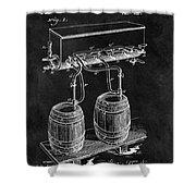 1900 Beer Cooler Shower Curtain