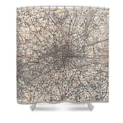 1900 Gall And Inglis' Map Of London And Environs Shower Curtain
