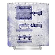 1900 Knife Switch Patent Blueprint Shower Curtain