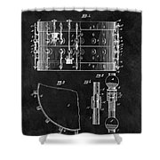 1900 Orchestra Drum Patent Shower Curtain