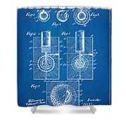 1902 Golf Ball Patent Artwork - Blueprint Shower Curtain