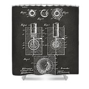 1902 Golf Ball Patent Artwork - Gray Shower Curtain