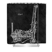 1902 Oil Well Patent Shower Curtain