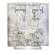 1902 Watchmakers Lathes Patent Shower Curtain