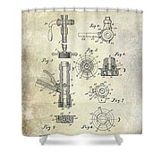 1903 Beer Tap Patent Shower Curtain