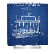 1903 Bottle Filling Machine Patent - Blueprint Shower Curtain