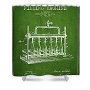 1903 Bottle Filling Machine Patent - Green Shower Curtain