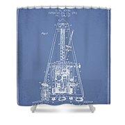1903 Electric Metronome Patent - Light Blue Shower Curtain