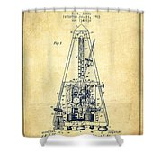 1903 Electric Metronome Patent - Vintage Shower Curtain