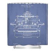1903 Type Writing Machine Patent - Light Blue Shower Curtain