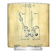 1904 Metronome Patent - Vintage Shower Curtain