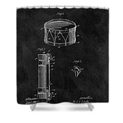 1905 Drum Patent Illustration Shower Curtain
