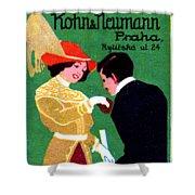 1905 Prague Fashion Poster Shower Curtain