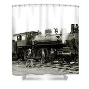 1905 Rail Engineers And Engine 1134 Shower Curtain