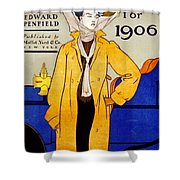 1906 Automobile Calender Shower Curtain