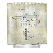 1906 Oyster Shucking Knife Patent Shower Curtain