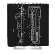 1906 Roller Coaster Patent Shower Curtain