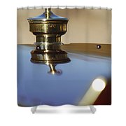 1907 Panhard Et Levassor Hood Ornament Shower Curtain