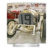 1908 Mercedes Race Car Shower Curtain