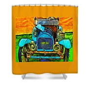 1909 Brush Automobile Shower Curtain