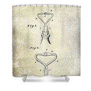 1909 Cork Extractor Patent Shower Curtain