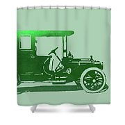1909 Packard Limousine Green Pop Shower Curtain