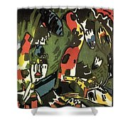 1909 Vasily Kandinsky Shower Curtain