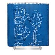 1910 Baseball Glove Patent Artwork Blueprint Shower Curtain