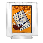 1910 Beacon Hill Pipe Tobacco Shower Curtain