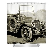 1910 Pope Hartford T Black And White 2 Shower Curtain