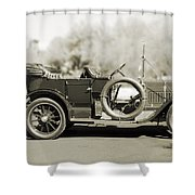 1910 Pope Hartford T Black And White Shower Curtain