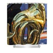 1910 Pope Hartford T Brass Horn Shower Curtain