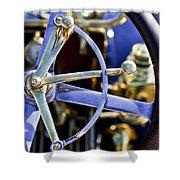 1910 Pope Hartford T Steering Wheel Shower Curtain