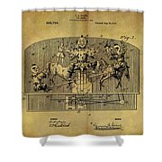 1910 Toy Circus Patent Shower Curtain