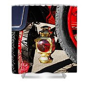 1911 Ford Model T Torpedo Lamp Shower Curtain