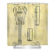 1911 Guitar Patent Shower Curtain