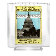 1913 Votes For Women Shower Curtain
