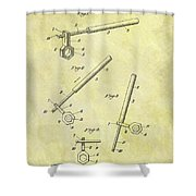 1913 Wrench Patent Shower Curtain