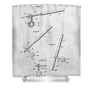 1913 Wrench Patent Illustration Shower Curtain