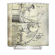 1914 Drum And Cymbal Patent Shower Curtain