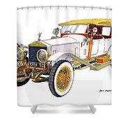 1914 Rolls Royce Silver Ghost Shower Curtain