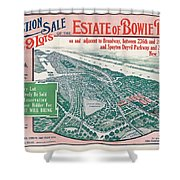 1915 Bronx Lots Sale Flyer Shower Curtain