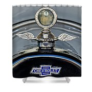 1915 Chevrolet Touring Hood Ornament 2 Shower Curtain