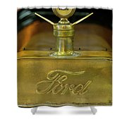 1915 Ford Depot Hack Hood Ornament 3 Shower Curtain
