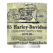 1915 Harley Davidson Advertisement Shower Curtain